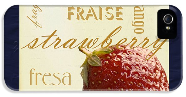 Fresas iPhone 5 Cases - Strawberry iPhone 5 Case by Marti Snider
