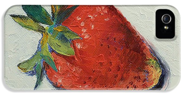 Fresas iPhone 5 Cases - Strawberry iPhone 5 Case by Michael Creese