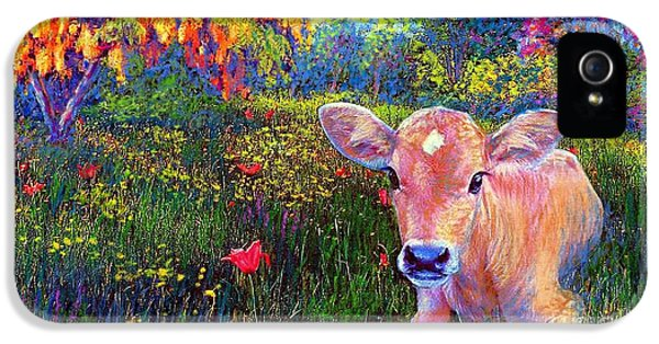 Such A Contented Cow IPhone 5 / 5s Case by Jane Small
