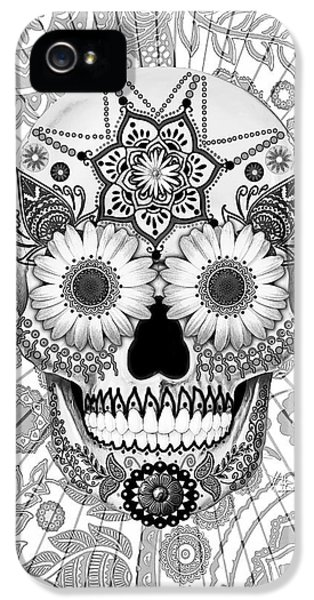Sugar Skull Bleached Bones - Copyrighted IPhone 5 / 5s Case by Christopher Beikmann