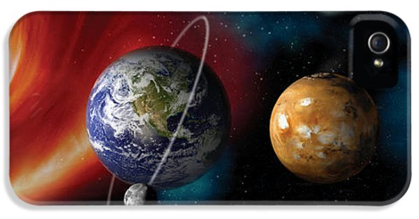 Communication iPhone 5 Cases - Sun And Planets iPhone 5 Case by Panoramic Images