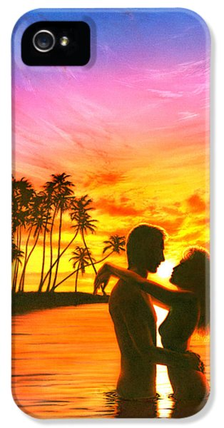 Puzzles iPhone 5 Cases - Sun Lovers Sun Worshippers iPhone 5 Case by Andrew Farley