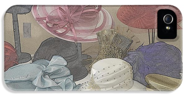 Milliner iPhone 5 Cases - Sunday Hats for Sale iPhone 5 Case by Kathy Barney