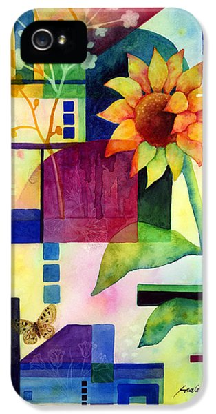 Summertime iPhone 5 Cases - Sunflower Collage 2 iPhone 5 Case by Hailey E Herrera