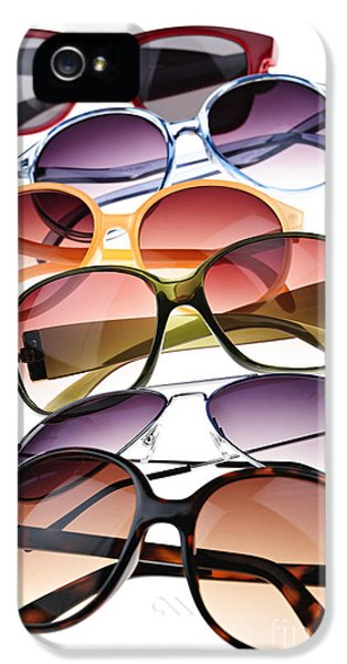 Plastic iPhone 5 Cases - Sunglasses iPhone 5 Case by Elena Elisseeva