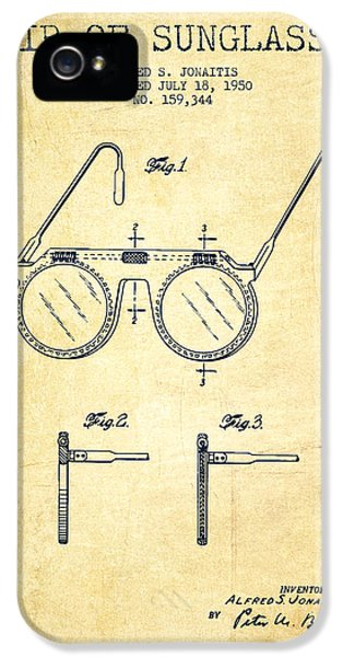 Protection iPhone 5 Cases - Sunglasses patent from 1950 - Vintage iPhone 5 Case by Aged Pixel
