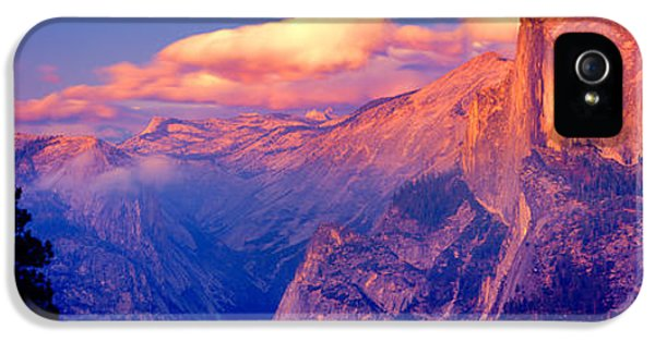 Sunlight Falling On A Mountain, Half IPhone 5 / 5s Case by Panoramic Images