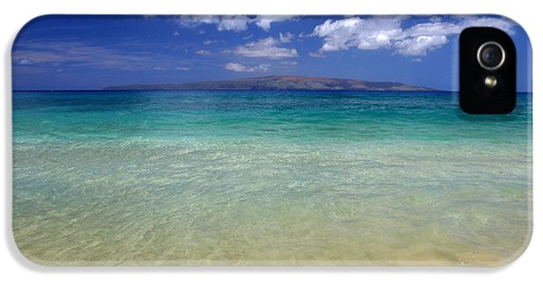 Turquoise iPhone 5 Cases - Sunny Blue Beach Makena Maui Hawaii iPhone 5 Case by Pierre Leclerc Photography
