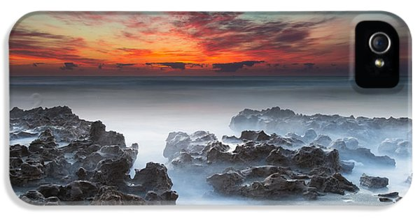 Sand iPhone 5 Cases - Sunrise at Blowing Rocks Preserve iPhone 5 Case by Andres Leon