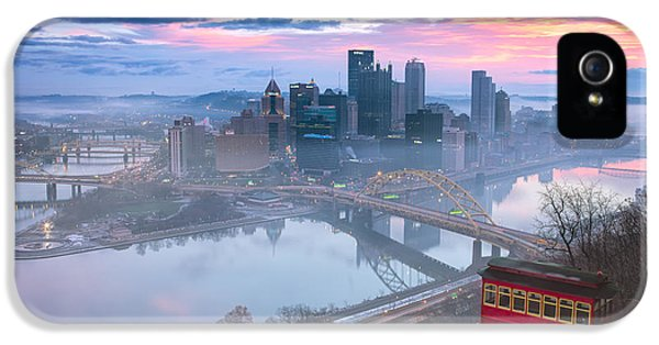Commercial iPhone 5 Cases - Sunrise in Pittsburgh Pa  iPhone 5 Case by Emmanuel Panagiotakis