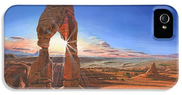 Sunset At Delicate Arch Utah IPhone 5 / 5s Case by Richard Harpum