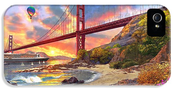 Sunset At Golden Gate IPhone 5 / 5s Case by Dominic Davison