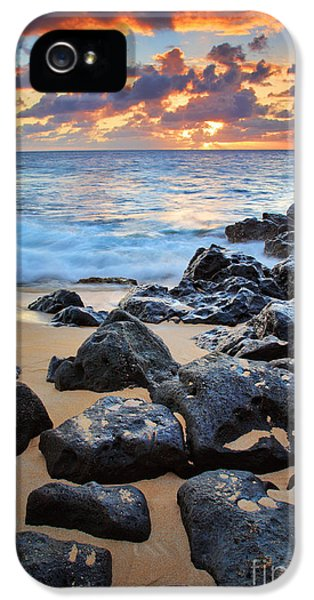 Reflective iPhone 5 Cases - Sunset Beach iPhone 5 Case by Inge Johnsson