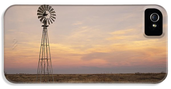 Windmill iPhone 5 Cases - Sunset on the Texas Plains iPhone 5 Case by Melany Sarafis