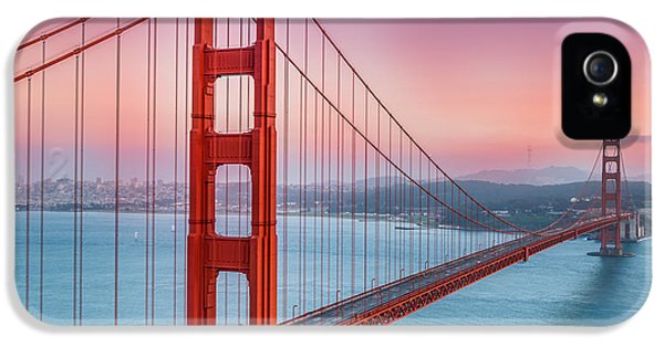 Afternoon iPhone 5 Cases - Sunset over the Golden Gate Bridge iPhone 5 Case by Sarit Sotangkur