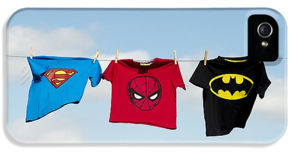 Clothing iPhone 5 Cases - Superheroes iPhone 5 Case by Tim Gainey