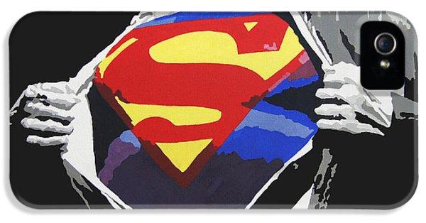 Men iPhone 5 Cases - Superman iPhone 5 Case by Erik Pinto