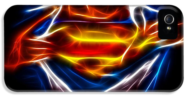 Dc iPhone 5 Cases - Superman iPhone 5 Case by Pamela Johnson