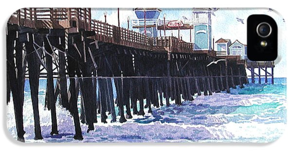 Pier iPhone 5 Cases - Surf View Oceanside Pier California iPhone 5 Case by Mary Helmreich