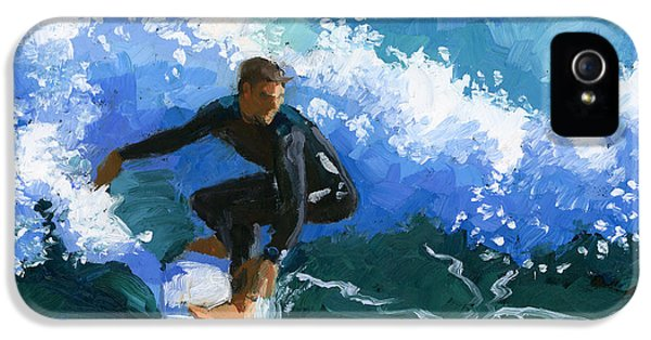 Suit iPhone 5 Cases - Surfin Huntington Beach Pier iPhone 5 Case by Alice Leggett