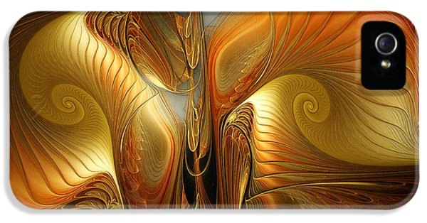 Contemplative iPhone 5 Cases - Surrealistic Landscape-Fractal Design iPhone 5 Case by Karin Kuhlmann