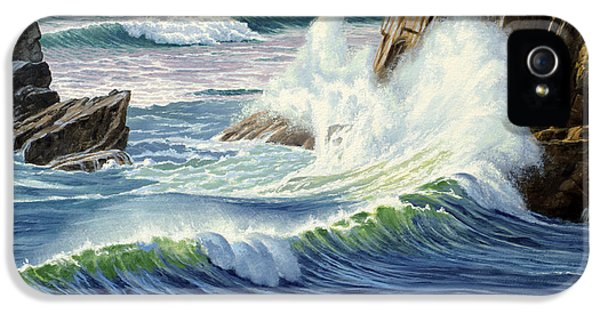 Oregon Coast iPhone 5 Cases - Sweeping Surf iPhone 5 Case by Paul Krapf