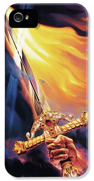 Fire iPhone 5 Cases - Sword of the Spirit iPhone 5 Case by Jeff Haynie