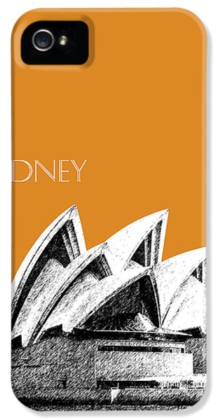 Sydney Skyline 3  Opera House - Dark Orange IPhone 5 / 5s Case by DB Artist