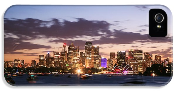Sydney Skyline At Dusk Australia IPhone 5 / 5s Case by Matteo Colombo