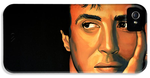 Bullets iPhone 5 Cases - Sylvester Stallone iPhone 5 Case by Paul  Meijering