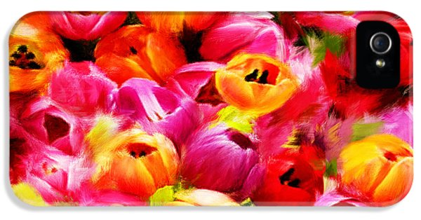 Tulips iPhone 5 Cases - Symbol Of Love iPhone 5 Case by Lourry Legarde