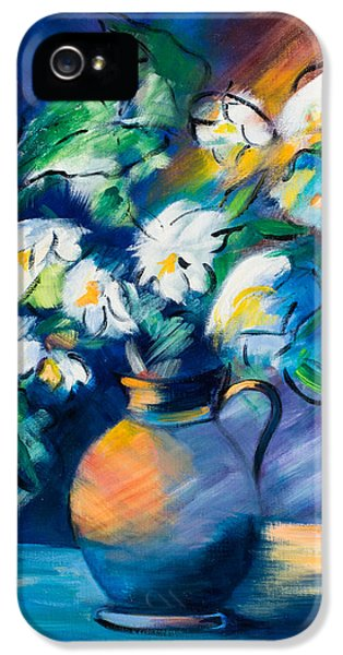 Bouquet iPhone 5 Cases - Symphony in Blue iPhone 5 Case by Elise Palmigiani