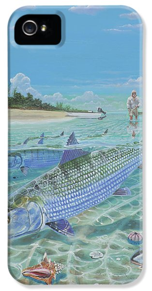 Conch iPhone 5 Cases - Tailing Bonefish In003 iPhone 5 Case by Carey Chen