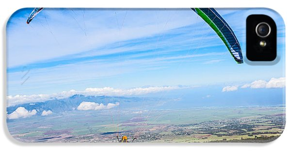 Prepper iPhone 5 Cases - Take Off - paraglider taking off high over Maui. iPhone 5 Case by Jamie Pham