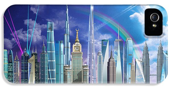 Puzzles iPhone 5 Cases - Tall Buildings iPhone 5 Case by Garry Walton