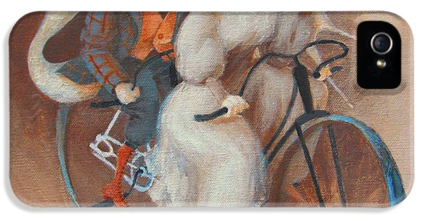 Bicycle iPhone 5 Cases - Tandem iPhone 5 Case by Marina Gnetetsky