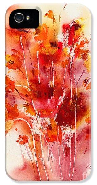 Tangerine iPhone 5 Cases - Tangerine Tango iPhone 5 Case by Hailey E Herrera