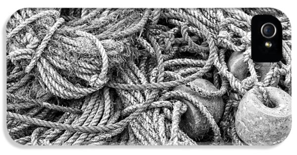 Knot iPhone 5 Cases - Tangled Rope On Dock in Maine iPhone 5 Case by Keith Webber Jr
