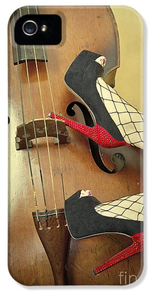 Stockings iPhone 5 Cases - Tango For Strings iPhone 5 Case by Evelina Kremsdorf