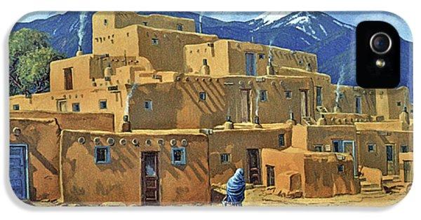 Pueblo iPhone 5 Cases - Taos Pueblo iPhone 5 Case by Randy Follis