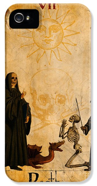 Reaper iPhone 5 Cases - Tarot Card Death iPhone 5 Case by Cinema Photography