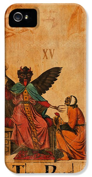 Reaper iPhone 5 Cases - Tarot Card The Devil iPhone 5 Case by Cinema Photography