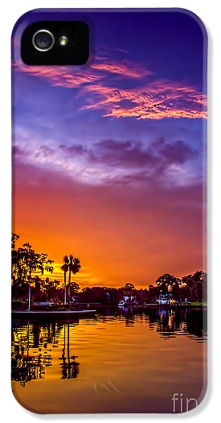 Bayou iPhone 5 Cases - Tarpon Springs Glow iPhone 5 Case by Marvin Spates