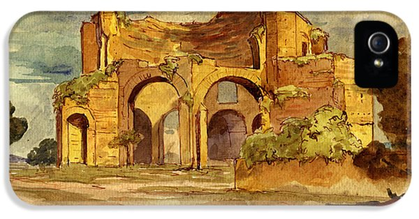 Ruins iPhone 5 Cases - Temple of Minerva Rome iPhone 5 Case by Juan  Bosco