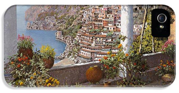 Coast iPhone 5 Cases - terrazza a Positano iPhone 5 Case by Guido Borelli