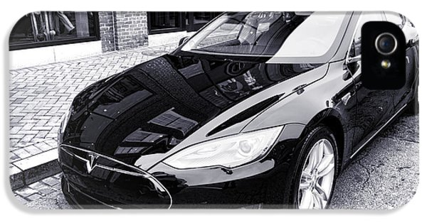 Safety iPhone 5 Cases - Tesla Model S iPhone 5 Case by Olivier Le Queinec