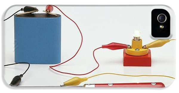 Testing For Conductivity Using A Battery IPhone 5 / 5s Case by Dorling Kindersley/uig
