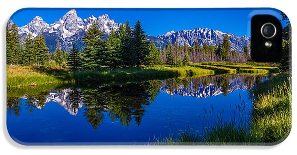Featured iPhone 5 Cases - Teton Reflection iPhone 5 Case by Chad Dutson