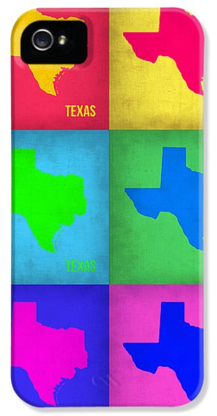 Texas iPhone 5 Cases - Texas Pop Art Map 1 iPhone 5 Case by Naxart Studio