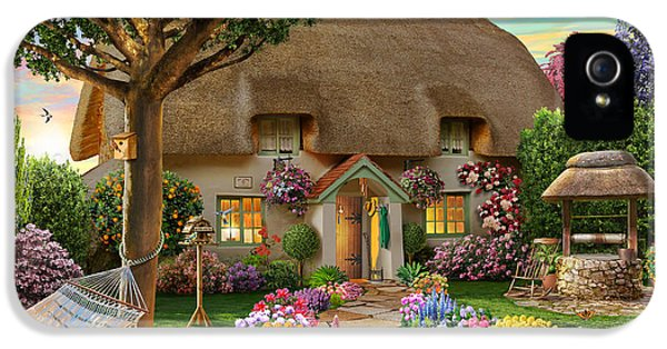 Bush iPhone 5 Cases - Thatched Cottage iPhone 5 Case by Adrian Chesterman
